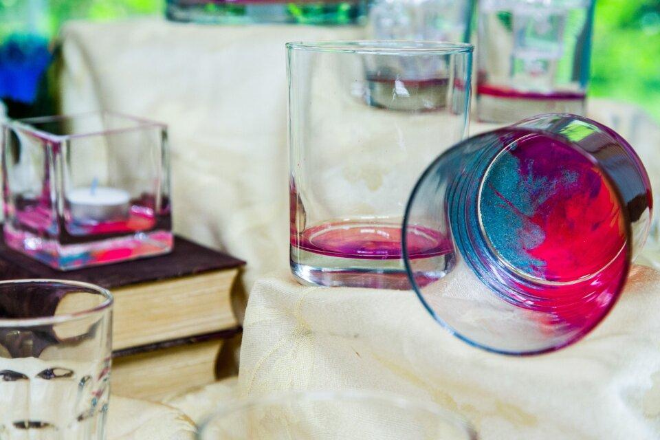 Tanya's DIY Marbled Glassware