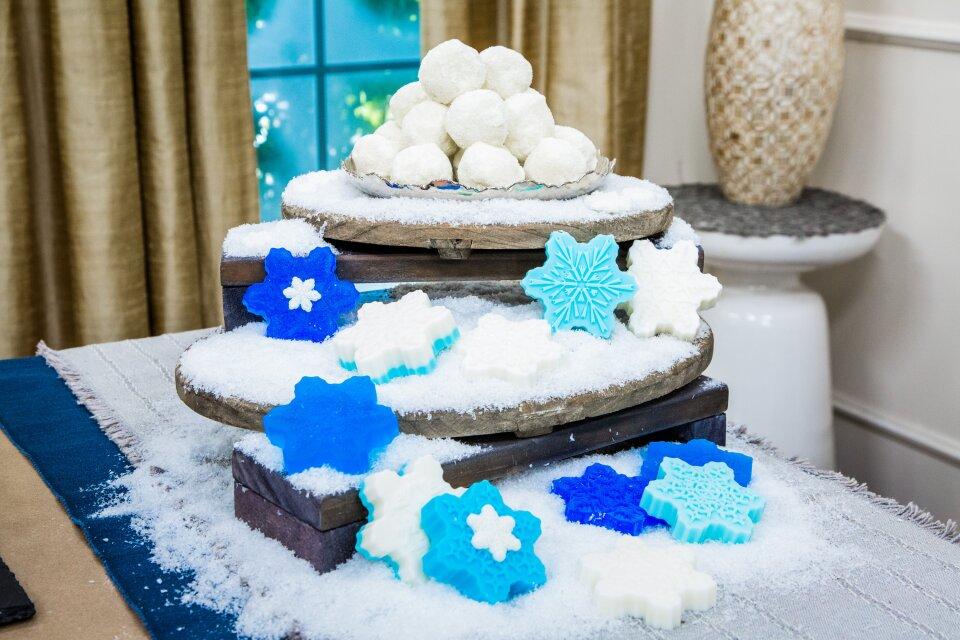Snowflake Soap and Snowball Bath Melts
