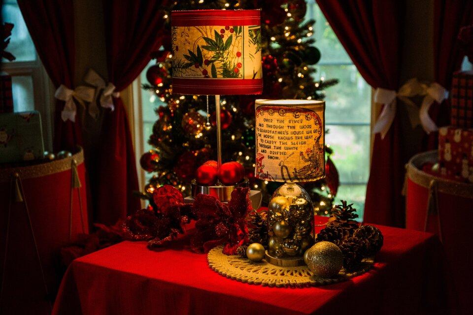 DIY Christmas Lampshades