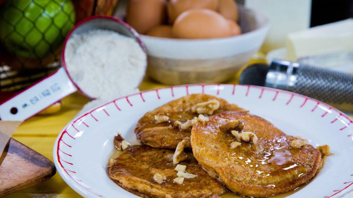 Apple-Dipped Pancakes