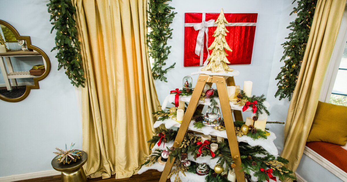 How To Diy Ladder Christmas Tree