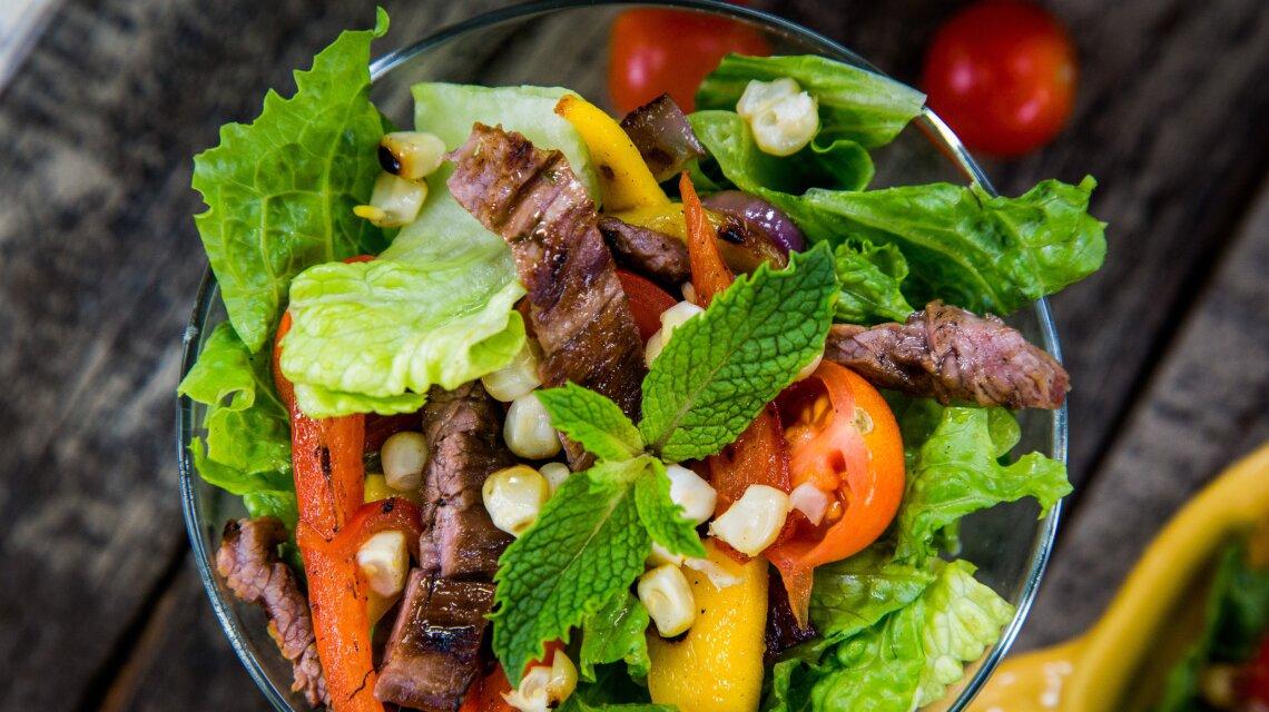 Mojito Steak Salad