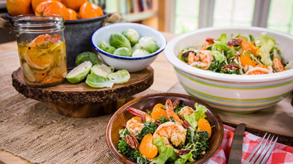 Chef Govind Armstrong's Pickled Shrimp Salad with Buttermilk Vinaigrette Dressing