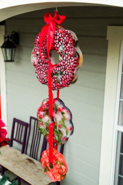 Tanya Memme's DIY Ice Wreath