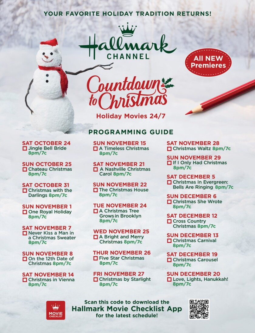 """Christmas Premieres 2020 Hallmark Channel's """"Countdown To Christmas"""" Returns October 23, 2020"""