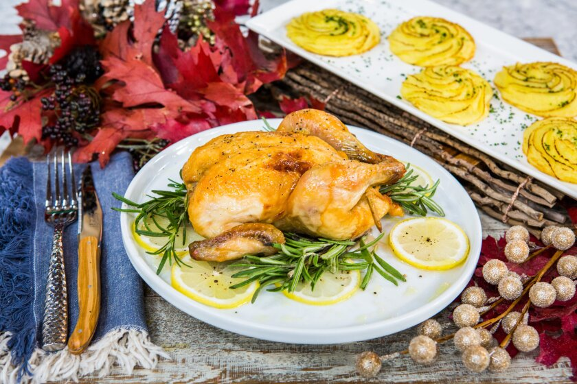 Roasted Cornish Game Hens with Lemon and Rosemary Recipe