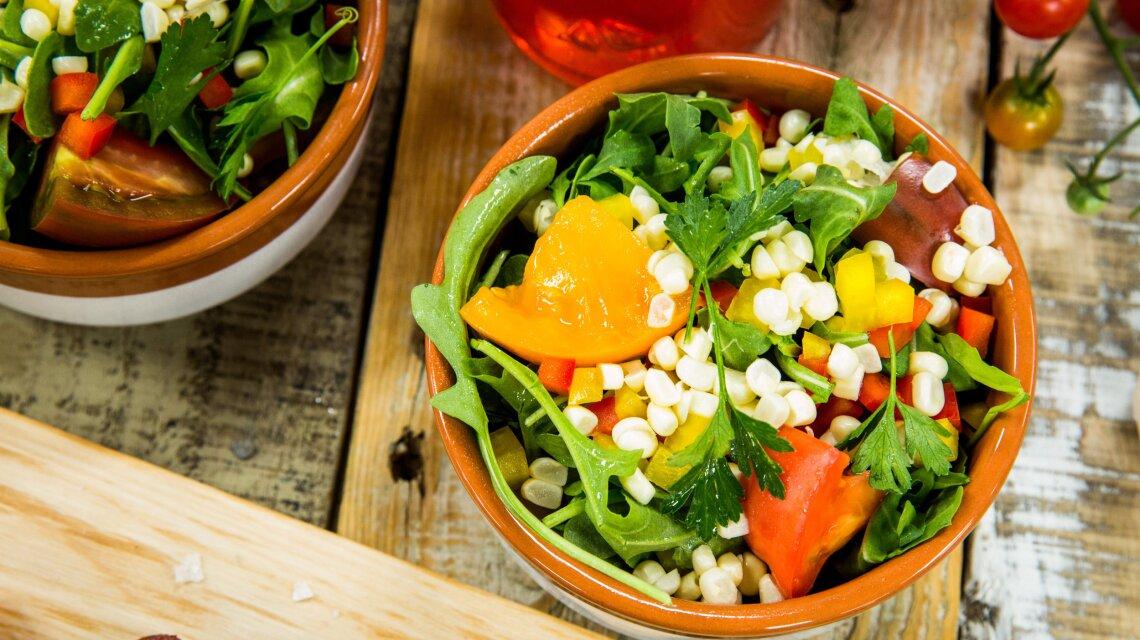 Cracked Corn Salad with Homemade Vinaigrette