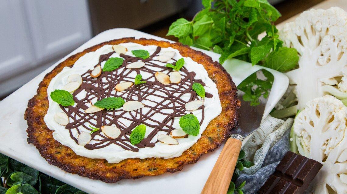 Chili Chocolate Cauliflower Pie