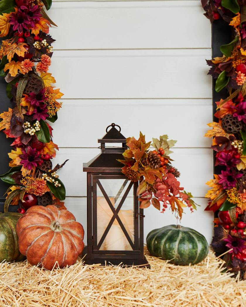 Fall Home Decorating with Balsam Hill - Seasonal Lantern with Candles