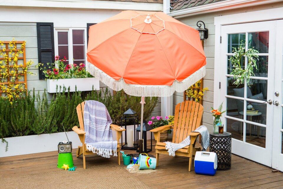 DIY Vintage Beach Umbrella