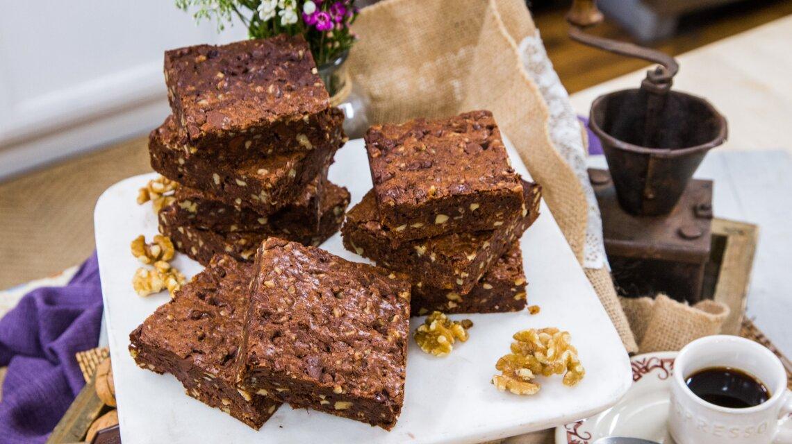Lydia Shayne - Triple Chocolate Walnut Brownie