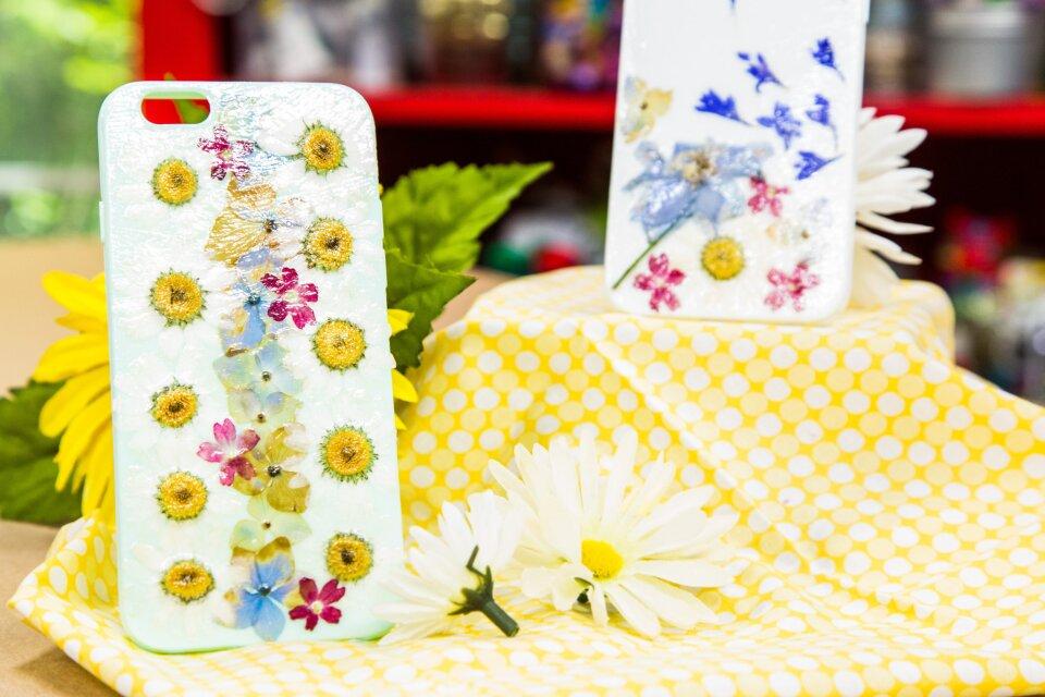 DIY Flower Cell Phone Case