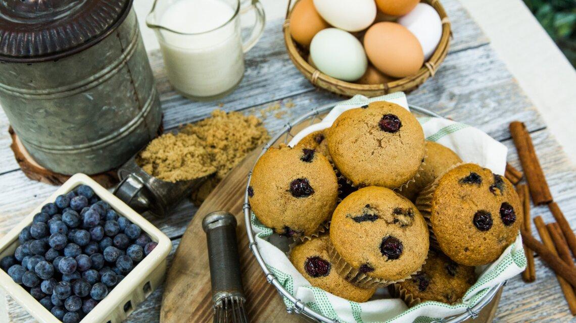 High Fiber Blueberry Muffins