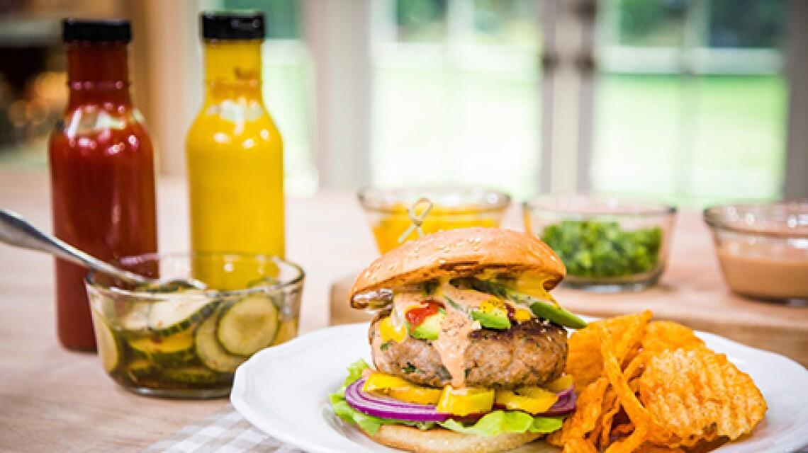 Matt Rogers' Delicious Bleu Cheese and Jalapeño Burgers