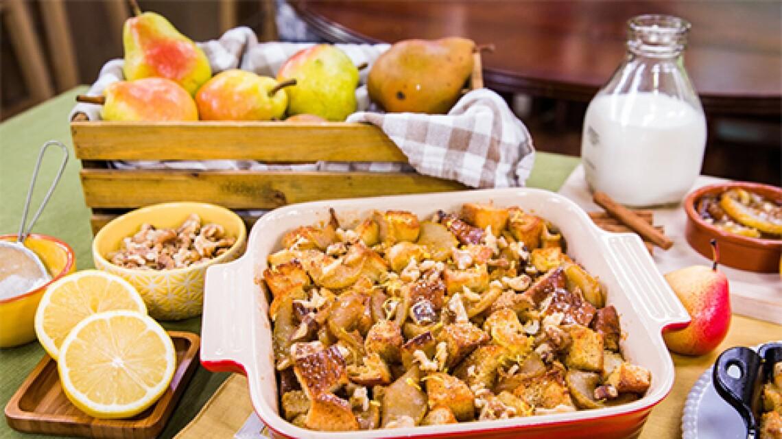 Cristina Cooks Pear & Vanilla French Bread Bake