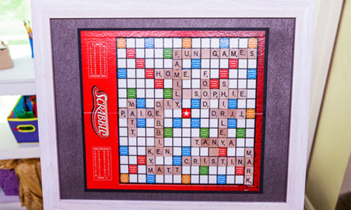 Personalized and Framed Scrabble Board with Matt Rogers