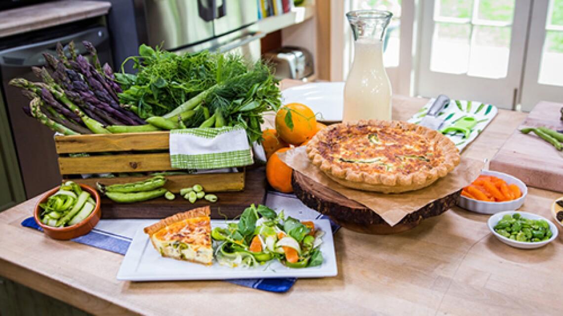 Chef Josie Le Balch Makes Asparagus Quiche And Asparagus Salad