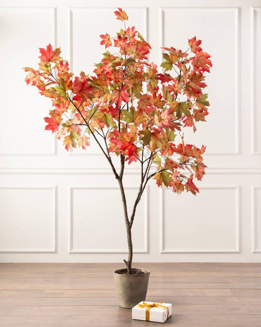 Fall Home Decorating with Balsam Hill - Potted Fall Plant