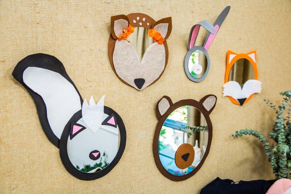 DIY Animal Mirrors