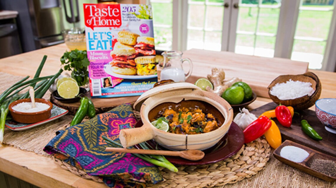 """Cristina Cooks: Thai Chicken Curry from """"Taste of Home"""" Magazine"""