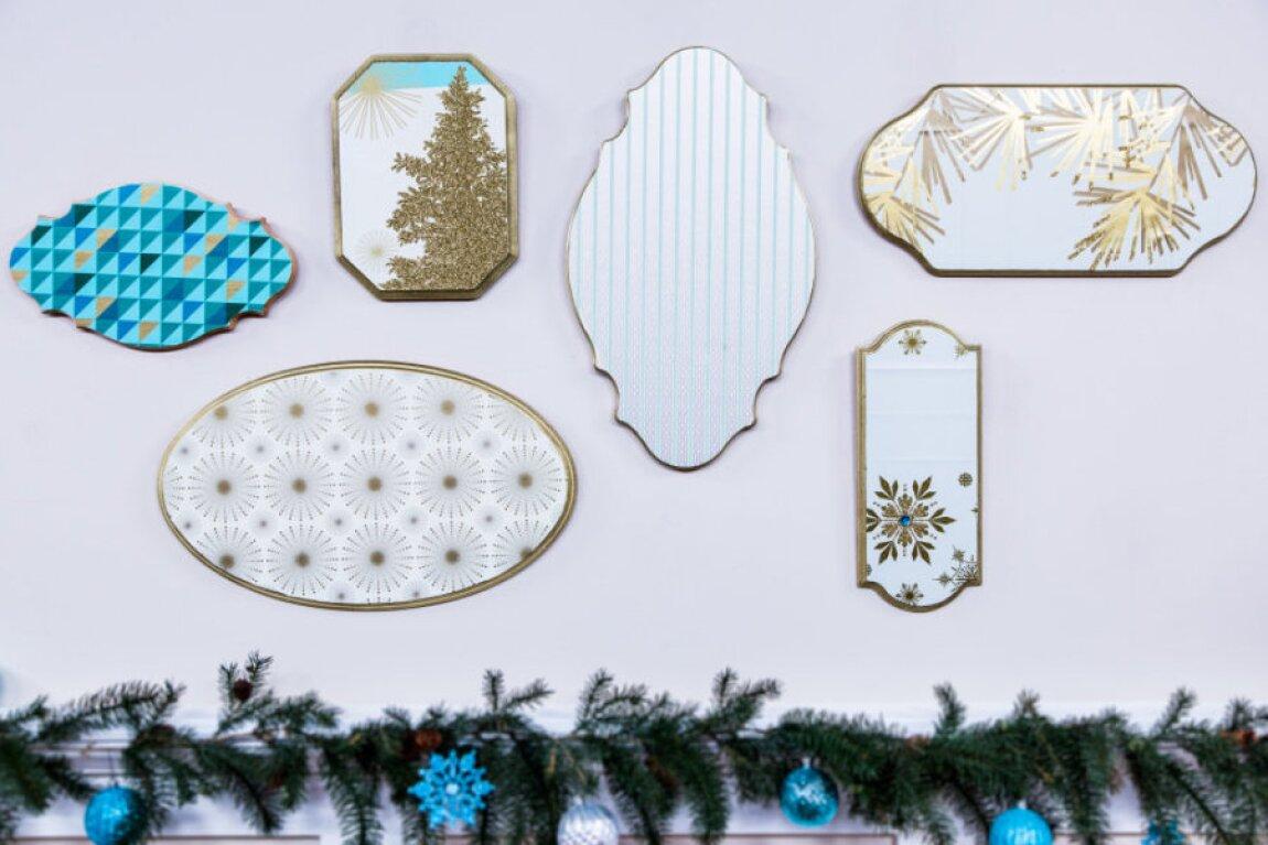 Ken Wingard's Hallmark Paper Wall Plaque and DIY Santa's Cookie Table