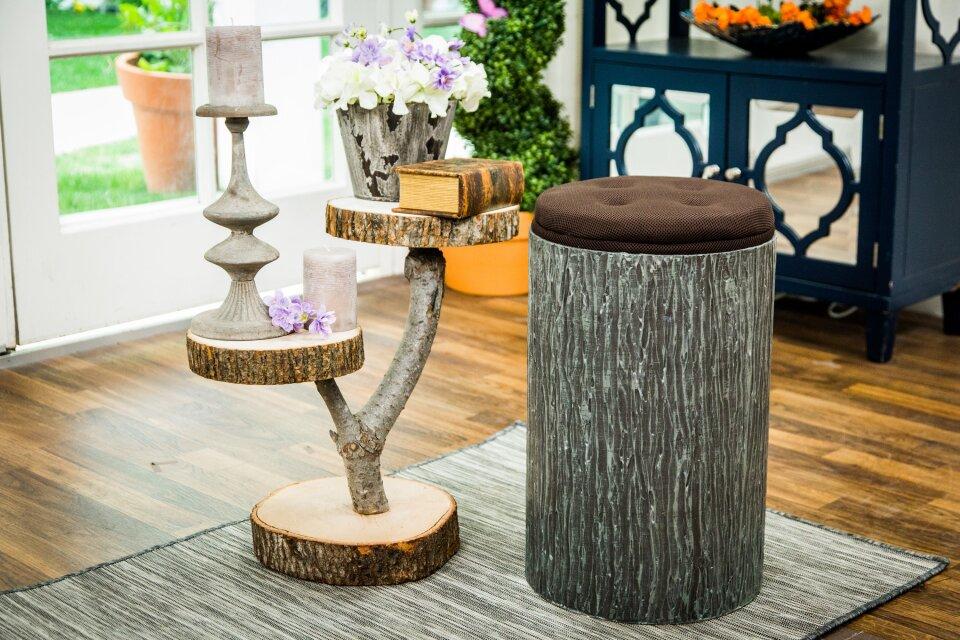 DIY Tree Stump Stools