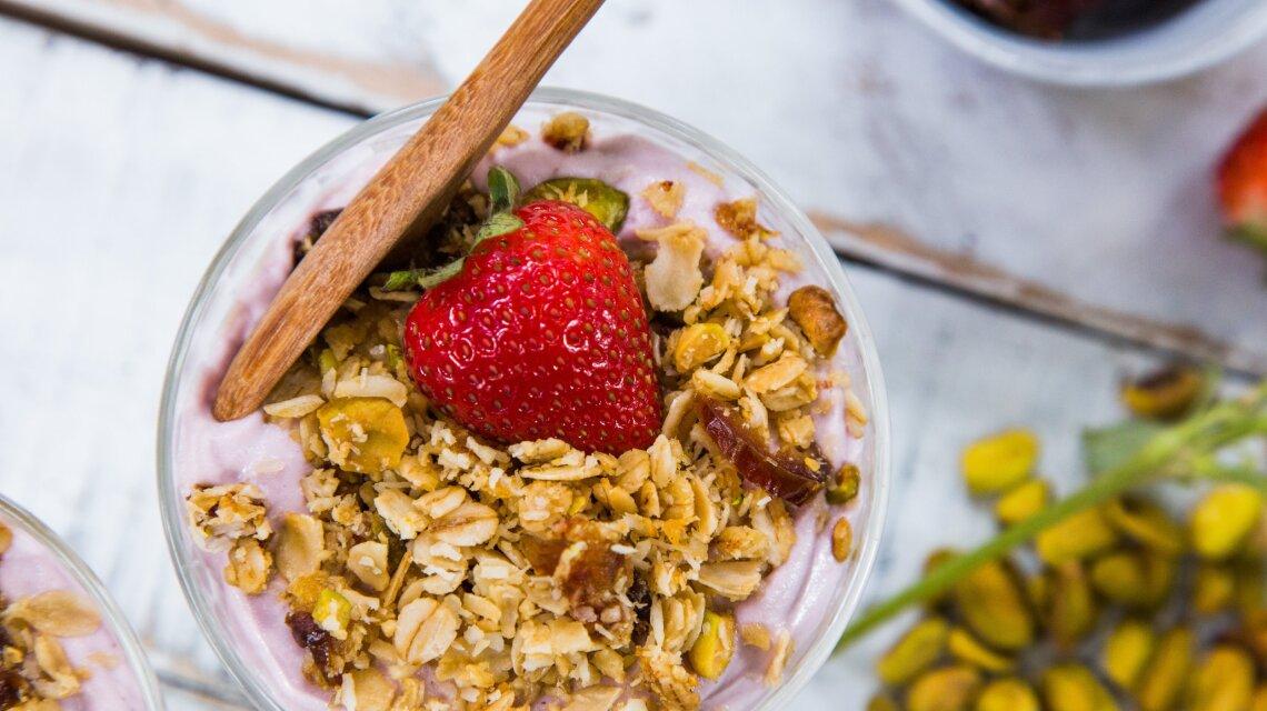 "Home-Made Coconut Granola and Cashew ""Yogurt"""
