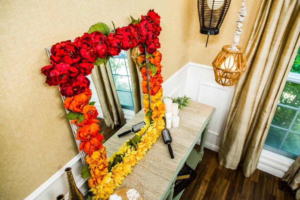 DIY Floral Vanity