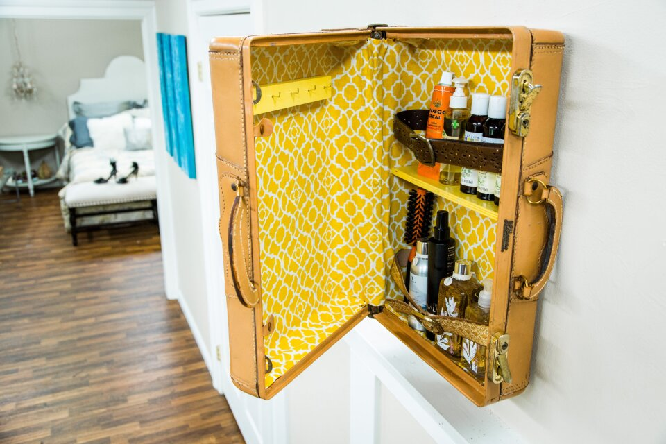 DIY Suitcase Cabinet